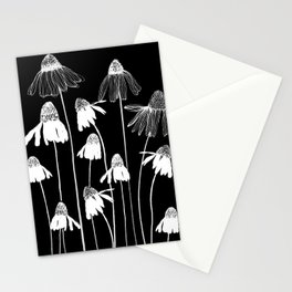 Black and white Daises Stationery Cards