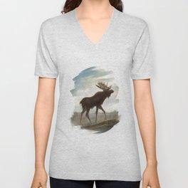 Moose Unisex V-Neck