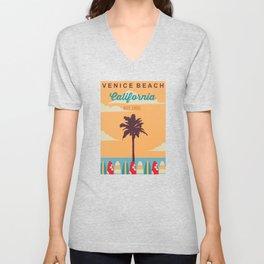 Venice Beach.  Unisex V-Neck