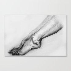 woman legs Canvas Print