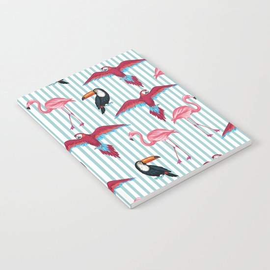 flamingo in tropic mood Notebook