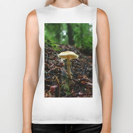 White Mushroom Forest Biker Tank