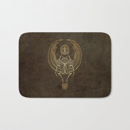 Stone Winged Egyptian Scarab Beetle with Ankh Bath Mat