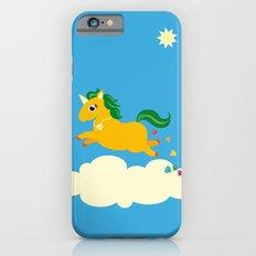 The golden unicorn of glitter poo Slim Case iPhone 6s