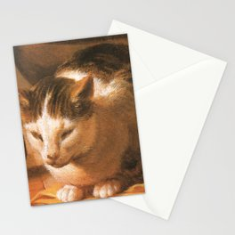 Cat in the art – Le brun – The sleep of the baby Jesus. Stationery Cards