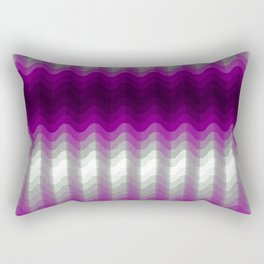 Asexual Pride Wave Gradient Pattern Rectangular Pillow