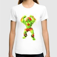 street fighter T-shirts featuring Street Fighter II - Blanka by Carlo Spaziani