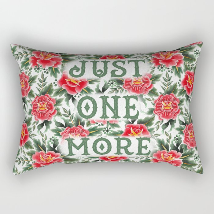 Just One More - Vintage Floral Tattoo Collection Rectangular Pillow