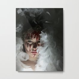 Bloody Girl. Metal Print