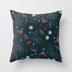 xmas pattern Throw Pillow