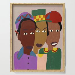 Three Friends by William H. Johnson Serving Tray