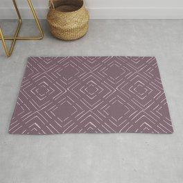 Square Purple Pattern Rug