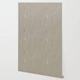 Minimal Line Art Woman Figure III Wallpaper