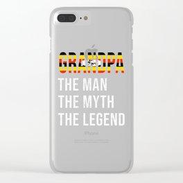 Uganda Grandpa Legend Fathers Day Clear iPhone Case