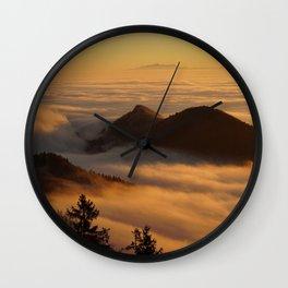 sea of fog Wall Clock