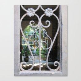 New Orleans: Secret Garden Canvas Print