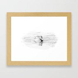 Duck Sketch Framed Art Print