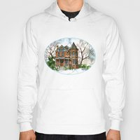 victorian Hoodies featuring Victorian Winter by Shelley Ylst Art