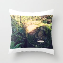 Colonized Log Throw Pillow