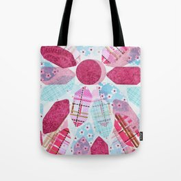 Patchwork-Collage Love Tote Bag