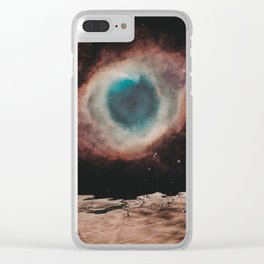EYE OF SPACE Clear iPhone Case