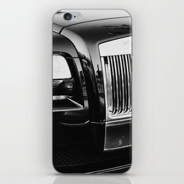 Rolls Grille // Black Luxury Car Close Up Photography Expensive Ultra Wealthy Autos iPhone Skin