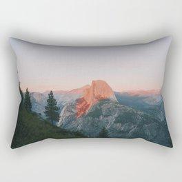 Half Dome Alpenglow Rectangular Pillow