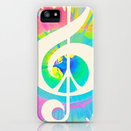 Tie Dye Music & Peace iPhone Case