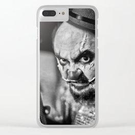 Evil clown Clear iPhone Case