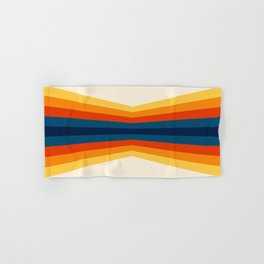 Bright 70's Retro Stripes Reflection Hand & Bath Towel