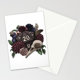 Necromancer D20 Tabletop RPG Gaming Dice Stationery Cards