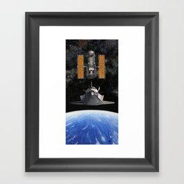 Hubble Rendezvous Framed Art Print