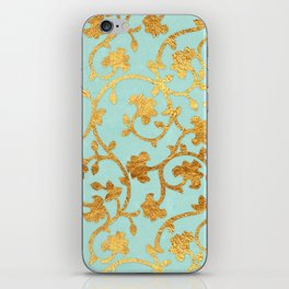 Golden Damask pattern iPhone Skin