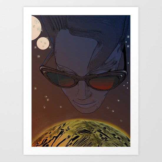 Wanda, Kisses from Planet UZU- Dawn version  Art Print