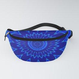 Summer Mandala Full Bloom Celebration in Vibrant Blue Fanny Pack