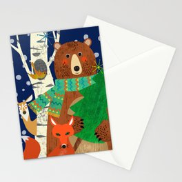 Woodland Holiday Stationery Cards