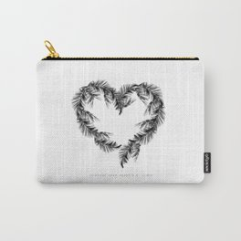 Palms Heart · Courage Quote Print · Palms Art · C.S. Lewis · Bedroom Art · Wall Art Decor · Home Dec Carry-All Pouch