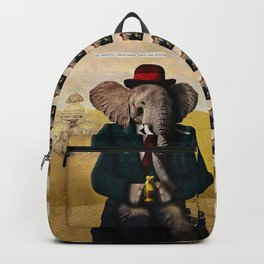Mr. Preston J. Pachyderm visits the Sphinx Backpack