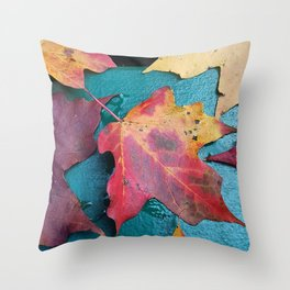 WithrowLeaves Throw Pillow