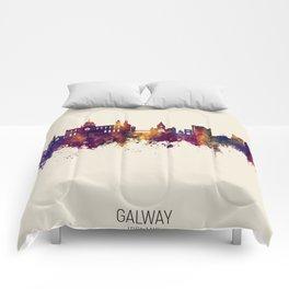 Galway Ireland Skyline Comforters