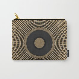 Gold Coin Mandala on Marble Carry-All Pouch