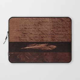 Fragments of Creations: statue, poem, feather, flowers. Collage Art Laptop Sleeve