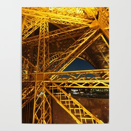 Lit Up Eiffel Tower Poster