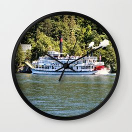 Minne-Ha-Ha Steamboat on Lake George Wall Clock