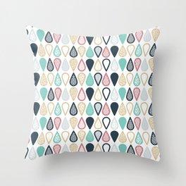 Bubbly & Buzzy Throw Pillow