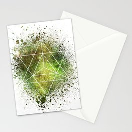 Star Tetrahedron the Merkaba Vehicle of Light Stationery Cards