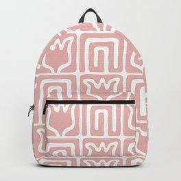 Mid Century Flower Garden Pattern 381 Dusty Rose Backpack