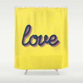 Love - yellow version Shower Curtain
