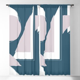 Geometric Shapes Abstract Blackout Curtain