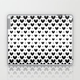 Black Hearts Seamless Laptop & iPad Skin